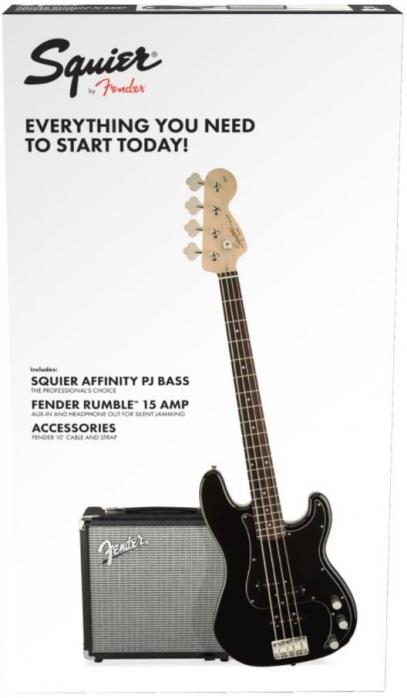 Fender Squier Affinity Series Precision Bass PJ RW Pack