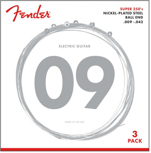 Fender Super 250L NPS Ball End Strings 3-Pack