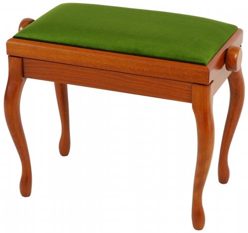 Grenada BG 2 piano bench, matte cherry, green drubbing
