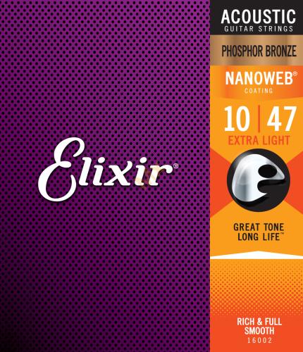 elixir 16002 phosphor bronze extra light nw struny na. Black Bedroom Furniture Sets. Home Design Ideas