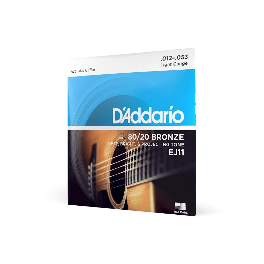 EJ11 BRONZE 80/20 Струны для акустической гитары бронза Light 12-53 D`Addario