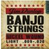 Banjo Nickel Strings Light 5 string struny pre banjo 9-20