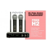 Novox Free H2 wireless microphone system with 2 handheld microphones