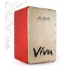 J.Leiva Percussion Cajon Viva Red