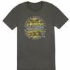 Fender Cali Coastal Yellow Waves Men′s T-Shirt, Gray, XXL koszulka