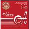 Adamas (664553) Phosphor Bronze Historic Reissue, struny do gitary akustycznej - 3pack Ex-Light .010-.047
