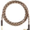 Fender Festival Pure Hemp Brown Stripe guitar cable 3 m/  10 ft