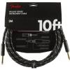 Fender Deluxe 10′ Black Tweed guitar cable