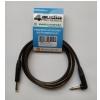 4Audio GT1075 2m Jack angled Jack guitar cable, black connectors