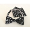 Zebra Music MU03 bow tie, musical motif